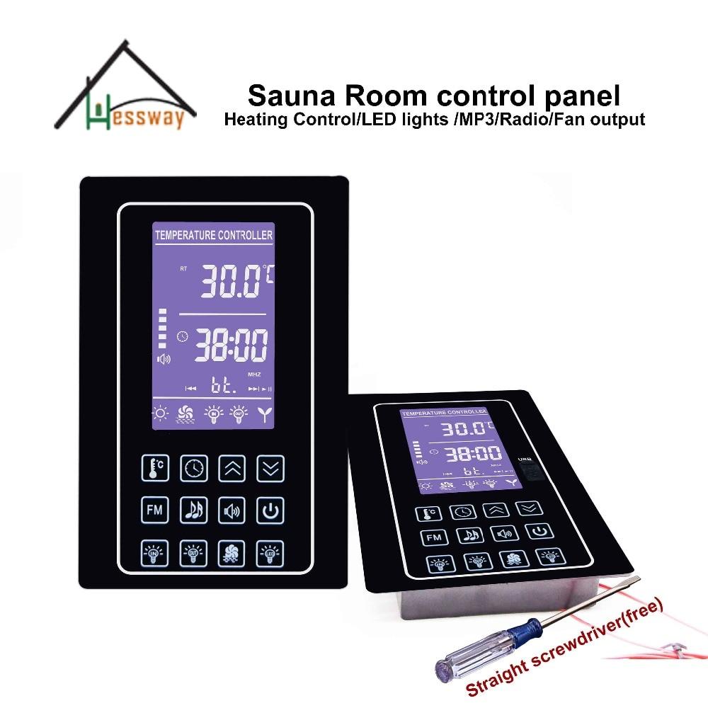 220V 110V 30A Multifunction Sauna Room Control Panel with Mp3, FM, inside and outside light220V 110V 30A Multifunction Sauna Room Control Panel with Mp3, FM, inside and outside light