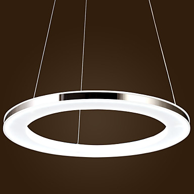 Fashion Modern Ring Shape Acrylic Droplight LED Pendant Light Fixtures For Dining Room Hanging Lamp Indoor Lighting Lampara 40cm acrylic round hanging modern led pendant light lamp for dining living room lighting lustres de sala teto
