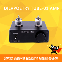 Dilvpoetry TUBE 01 Nobsound HiFi 6J1 Vacuum Tube Preamp Stereo Tube Preamplifier Digital With Treble&Bass Tone Control DC12V