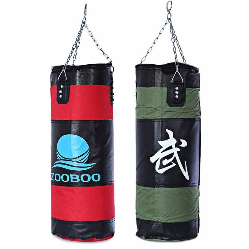 60-100 cm De Boxe Sacs De Sable Frappant de Baisse Creux Vide Sac de Boxe avec La Chaîne et Crochet Muay Thai MMA Formation coups de pied Poinçon Cible