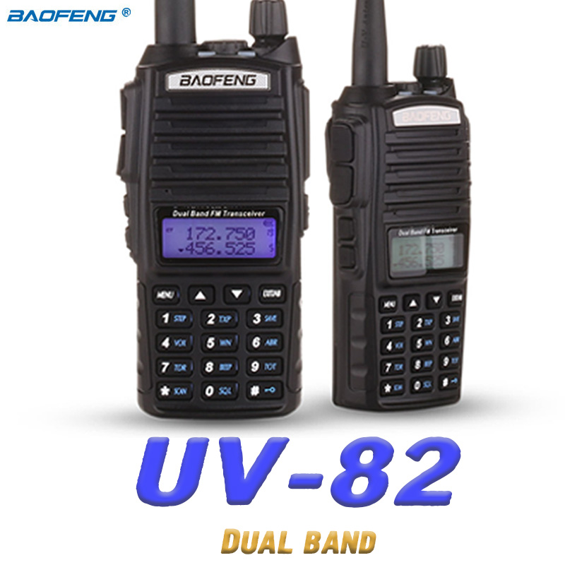 Baofeng UV 82 Walkie Talkie 10km two way radio Dual Band FM transceiver