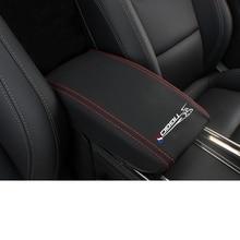 Lsrtw2017 Carbon Fiber Leather Car Armrest Box Cover Rear Anti-kick Mat for Chery Tiggo 8 2018 2019 2020