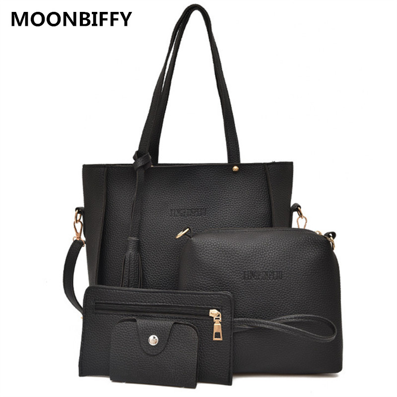 4 Pcs/set Women Messenger Bags With Tassel New Fashion 5 Color Women Crossbody Bags For Travel Female Shoulder Bags bolso muje Shoulder Bags  - AliExpress
