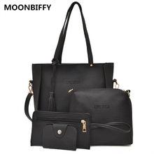 4 шт./компл., женские сумки-мессенджеры с кисточкой, новая мода, 5 цветов, женские сумки-Кроссбоди для путешествий, женские сумки через плечо ...