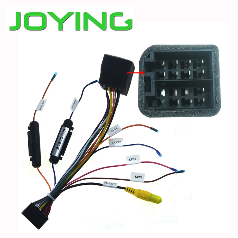 US $49 99 |Joying Universal ISO wiring harness only for Joying android  device-in Cables, Adapters & Sockets from Automobiles & Motorcycles on