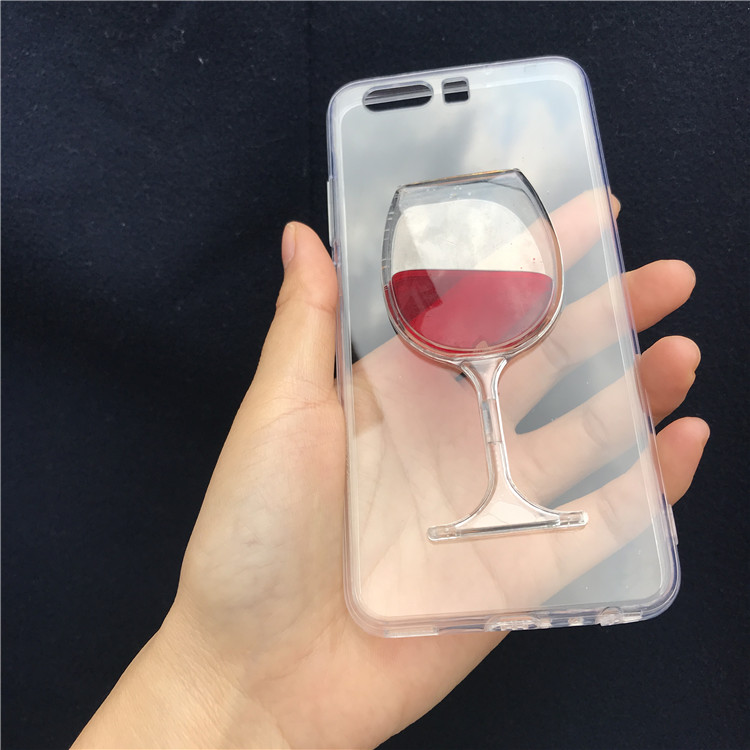Flowing Liquid Red Wine Glass Cup Case For Huawei Honor 10i 20 Pro 20 10 8 9 Lite P Smart 2019 Z 8X 9X 8A 8C 8S 7A Pro 7C Fundas