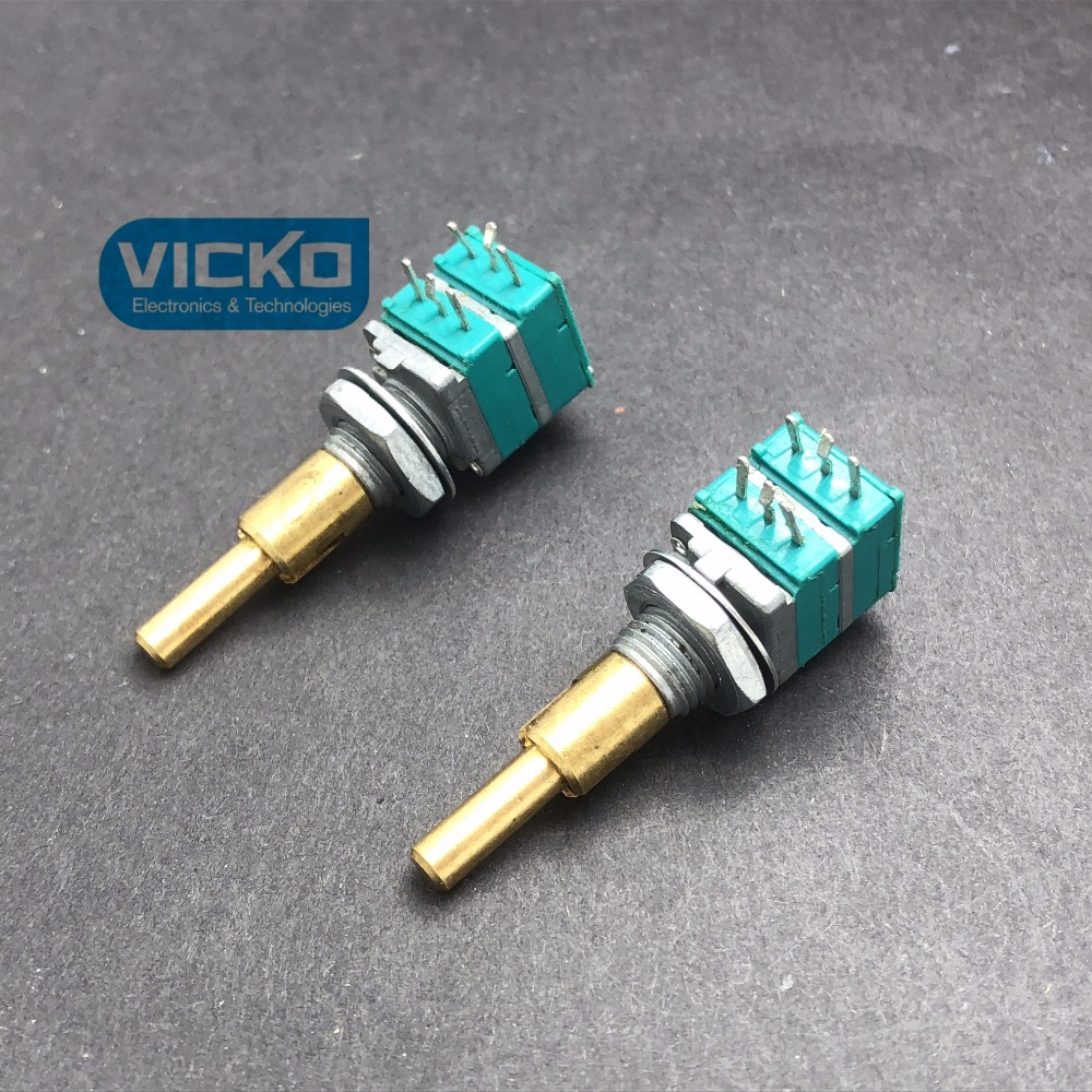 [VK] ALPS double axis Precision potentiometer RK097 B10K B10Kx2 amplifier for automobile audio navigation volume switch наклейки dealnium 3d r rline 30