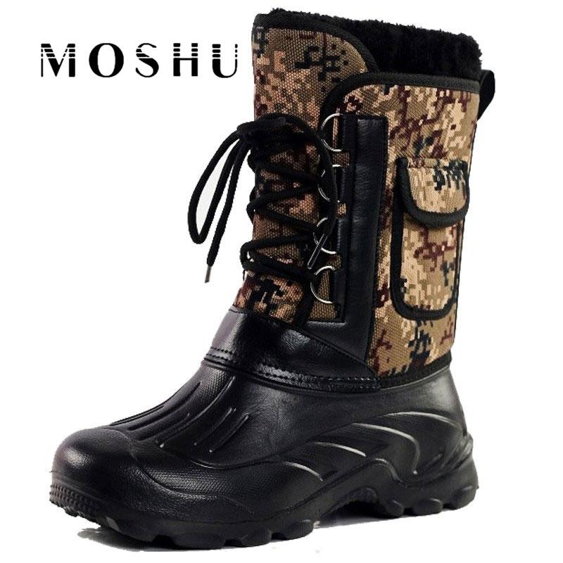 2017 Winter Men Military Boots Male Waterproof Snow Ankle Boots Combat Warm Fur Shoes Zapatillas Hombre