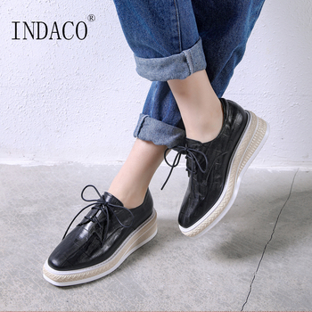 2019 Spring Sneakers Women Leather Casual Shoes Platform Fashion Sneakers 5cm