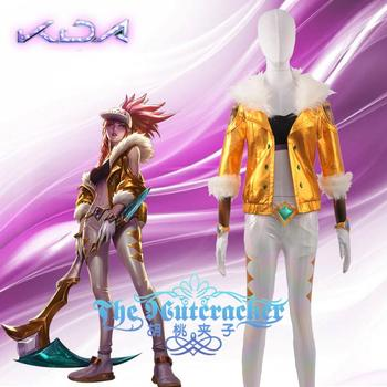 Anime! Hot Game LOL KDA Akali New Golden Luxurious Skin Combat Suit Sexy Girls Uniform Cosplay Costume Stage Suit Free Shipping