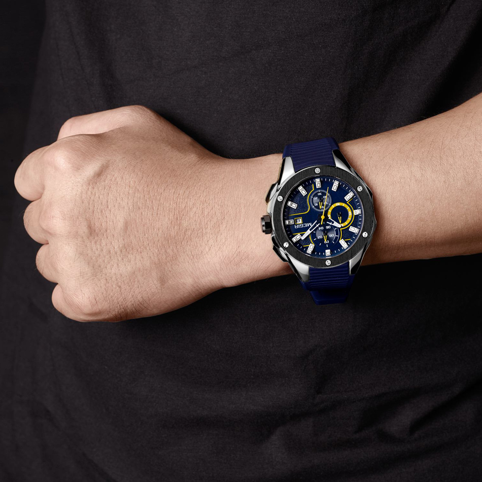 MEGIR New Brand Quartz Watches Mænd Top Kvalitet Chronograph - Mænds ure - Foto 6