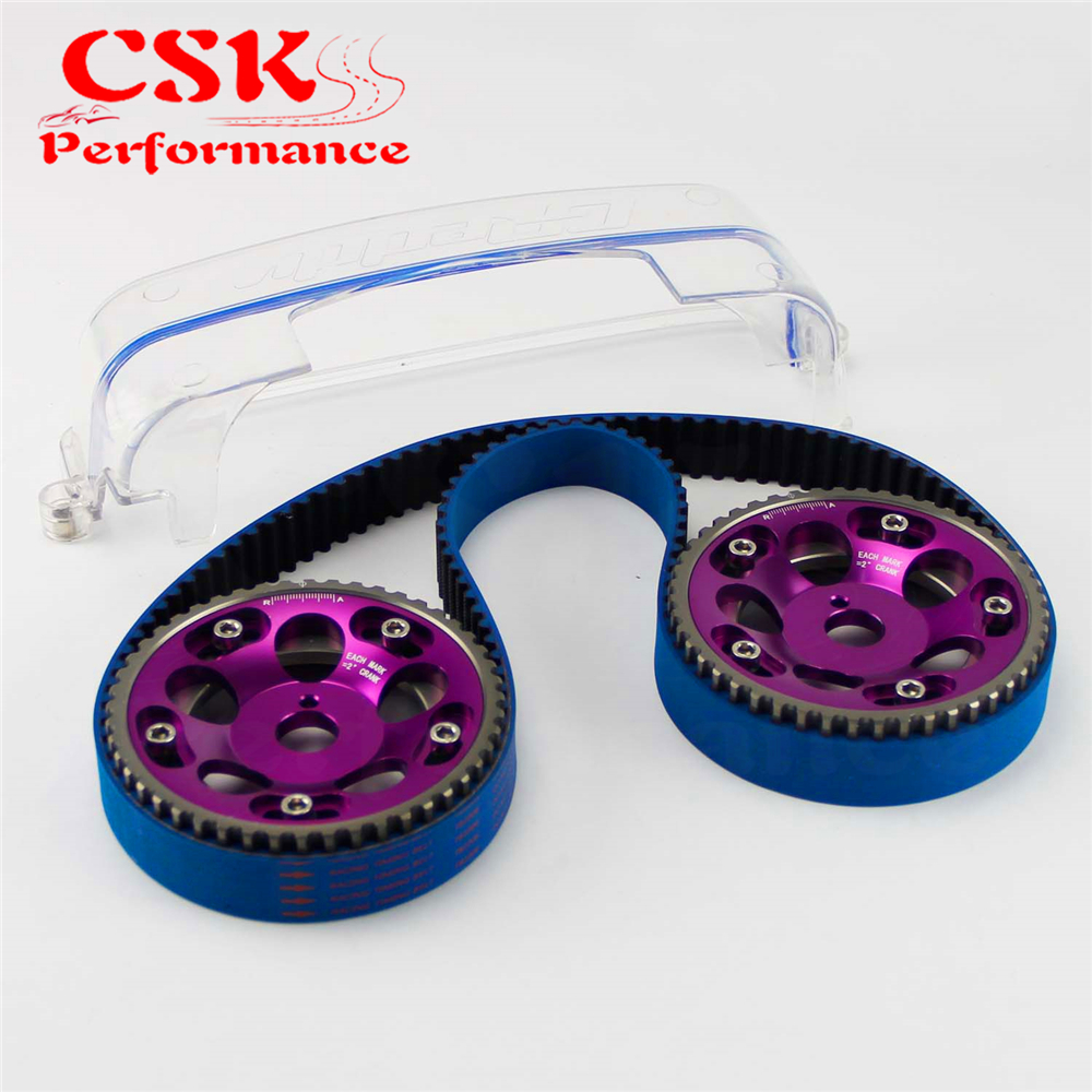 Timing Belt + Cam Cover + Cam Gear Pulley Kit Fits For Toyota MARK IV 2JZ-GTE 2JZ Purple/Red/Blue