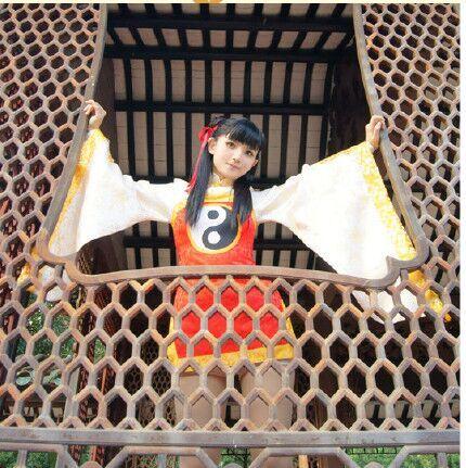 Card captor Sakura RI MEIRIN Benutzerdefinierte Größe Chinesischen Stil Alte Uniformen Cosplay Kostüm freies Verschiffen - 3