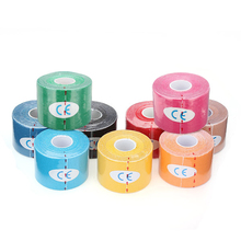 SZ LGFM 1 Roll Muscles Care Fitness Athletic Health Tape 5M 5CM Red