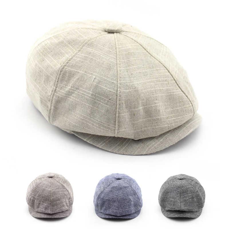 BFDADI الكبار شعبية موزع الصحف قبعة الربيع والصيف الكتان قبعة مثمنة المد والجزر في الهواء الطلق قبعات مماشية للموضة شحن مجاني