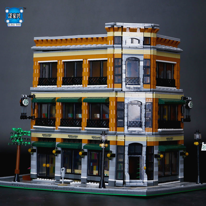2018 New LEPINE 4616Pcs City Street Starbucks Bookstore Cafe Model Building Kit Blocks Bricks Compatible Educational Figures Toy a toy a dream lepin 15008 2462pcs city street creator green grocer model building kits blocks bricks compatible 10185