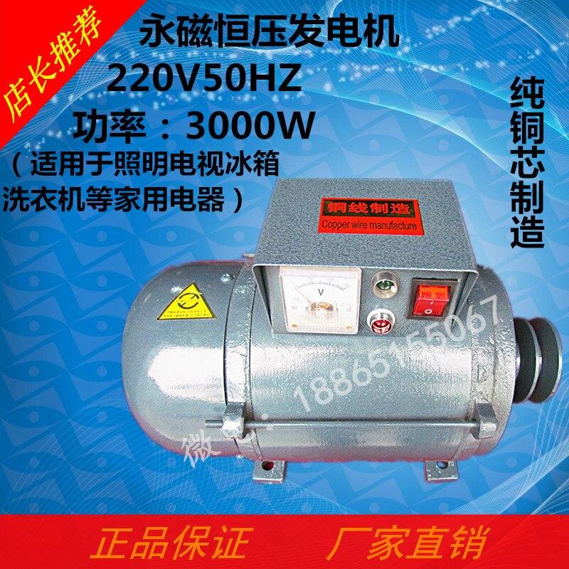 Тип шкива небольшой постоянный магнит постоянное напряжение генератор чистой меди 220V50Hz3000W применимые бытовые приборы