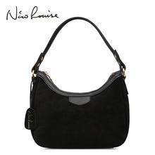Bolsa de ombro feminina camurça couro, bolsa de ombro pequena com alça sacos de sacosbrand handbagshandbag brandhandbags for ladies