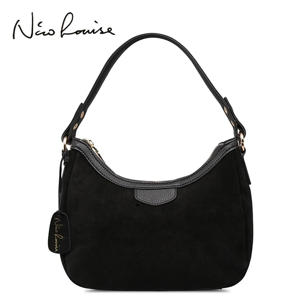 New Women Real Suede Leather Small Shoulder Bag Brand Female  Leisure Cossbody Hobo Handbag For Lady Blosa Top handle Bagsbrand  handbagshandbag brandhandbags for ladies