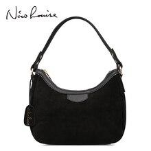 Petit sac à main en cuir véritable daim pour femmes, nouveau sac à bandoulière de marque pour loisirs cosses Hobo, sac à main à poignée supérieure