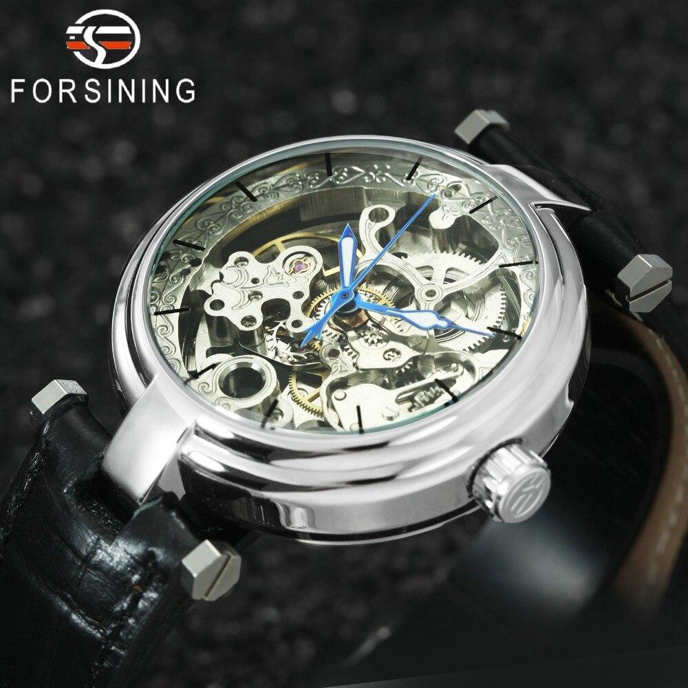Luxury Brand Elegant Women Watches Skeleton Automatic Mechanical Genuine Leather Strap Casual Fashion Unisex Ladies Wrist Watch