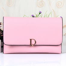2017 New Wave of Women's Professional Career D Word Fashion Fresh Buckle Ladies PU Shoulder Messenger Kits Bags