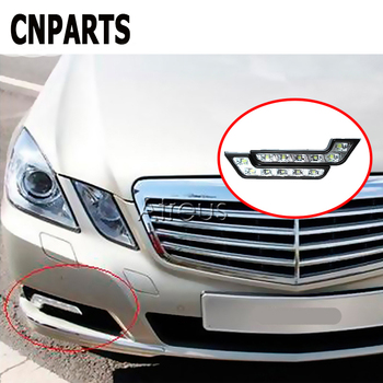 CNPARTS 2pcs Car DRL LED Daytime Running Lights Fog Lamp For Mercedes Benz W203 W211 W204 W210 AMG BMW F10 E34 E30 F20 X5 E70 X6 image