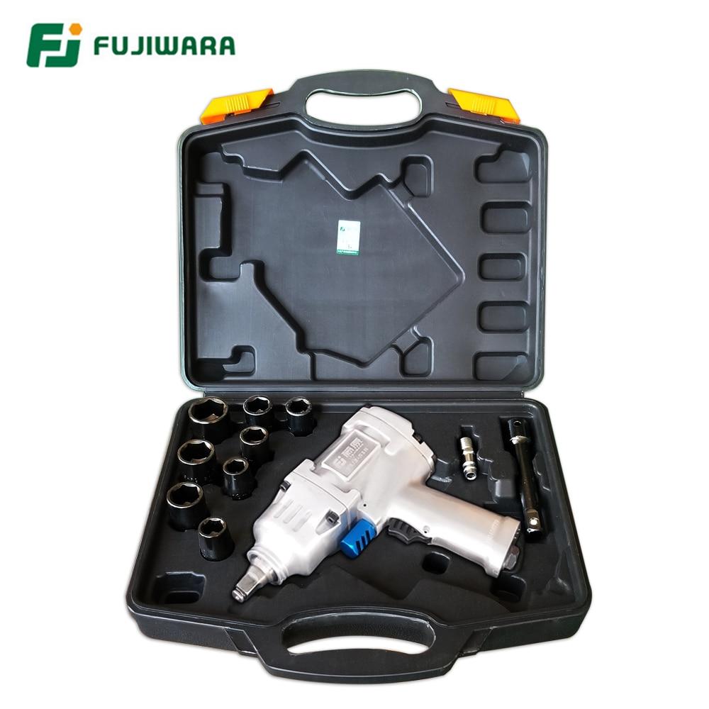 Fujiwara Pneumatic wrench inch1 2inch 1200N M Pneumatic Impact Spanner Large Torque Pneumatic Sleeve Pneumatic Tools