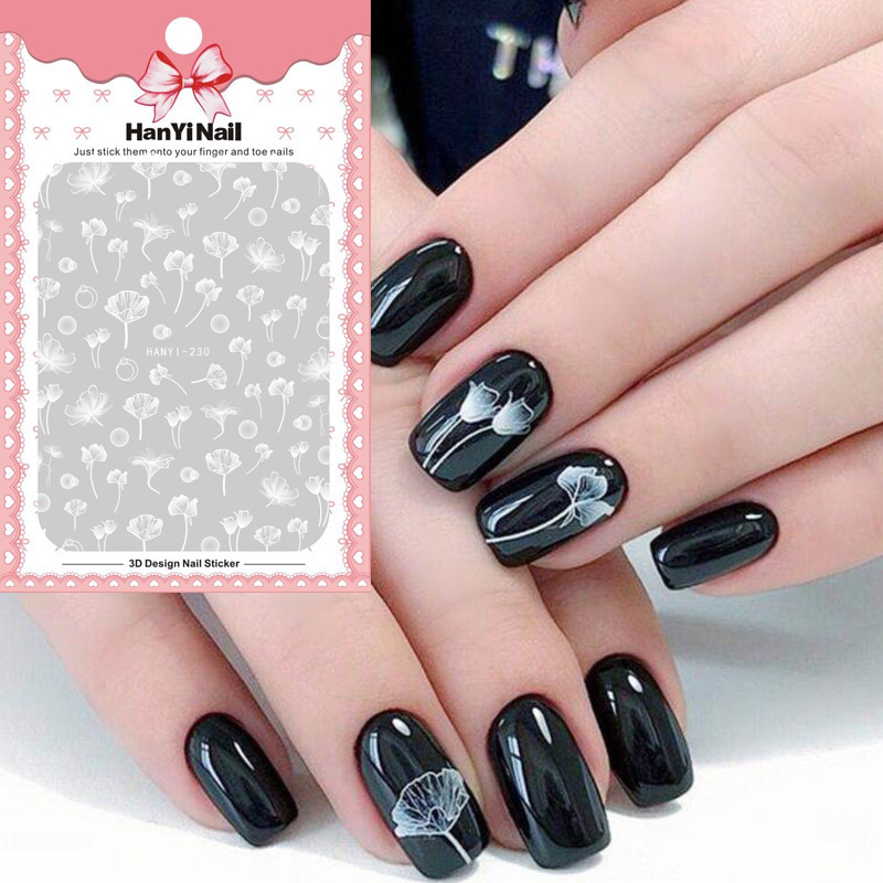 1sheet Nail Art Water Decals Transfer Sticker Moon Eclipse Starry Night Flower Series Manicure Decor Water Slider in Stickers Decals from Beauty Health