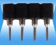 1000pcs Single-row Socket;Black Distance 2.54mm