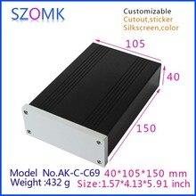 1 stücke, szomk aluminiumgehäuse extrudierten box 40*105*150mm neue ankunft shenzhen audio verstärker gehäuse, anschlussdose