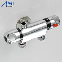 Tube Shower Faucet Thermostatic Temperature Controlled Water Valve Mixing Valve