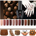 Coffee Brown Gel Nail Polish High Quality Long-lasting Soak Off UV LED Beauty Nail Art Tools12 colors 12ml