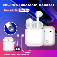 I9S TWS Mini 5.0 หูฟังบลูทูธแบบพกพาหูฟังไร้สายหูฟังหูฟังหูฟังสำหรับ iPhone X XR 8 7 6 Plus Samsung huawei Xiaomi