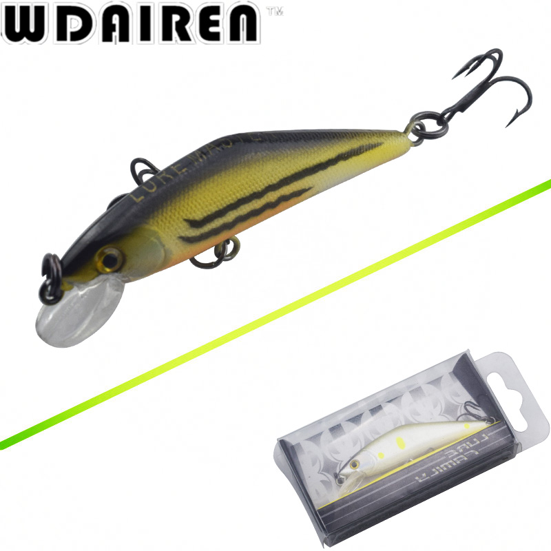 WDAIREN 5.7cm 4.4g Crank wobblers Slowly sink Fishing Lures Tackle Swim Bait 13 Colors Japan Hard Fishing Crazy Bass Fish Lure 14g 10cm crankbait fishing wobblers hard fishing tackle swim bait crank bait bass troll fishing lures 10 colors pike perch