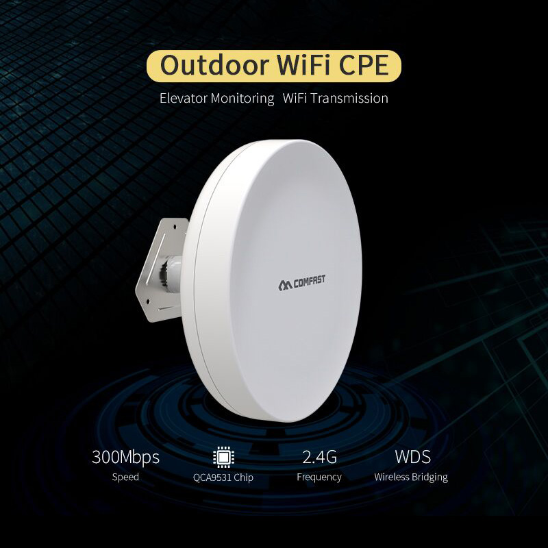 COMFAST 300Mbps outdoor wireless CPE WDS bridge CF-A1 poe WIFI router repetidor wif for long range wifi transmission nanostation