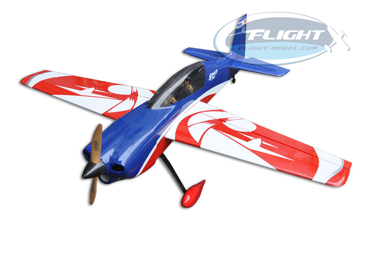 цена на Flight Model New Sbach 342 20cc Gas Airplane RC Remote Control 6 Channels Fixed Wing Plane