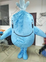 cute whale mascot costumes smile animal party costumes