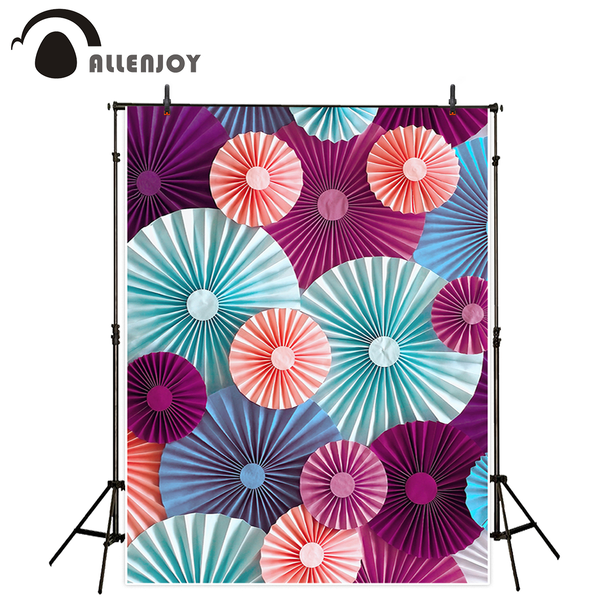 Allenjoy kids background for photography colorful folding paper decorative wall newborn backdrop photo studio photocall allenjoy photography backdrop flower door wedding children painting colorful background photo studio photocall photo shoot
