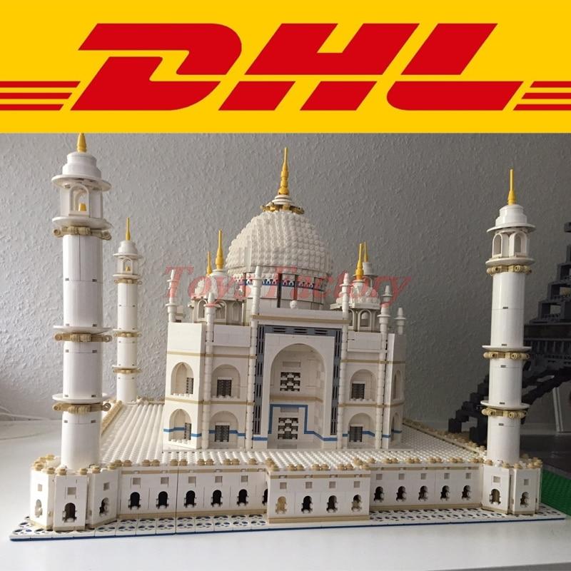 цена на Clone 10189 MOC 2018 LEPIN 17001 5952pcs City Street The taj mahal Model Building Kit Set Blocks Bricks Toy Gift