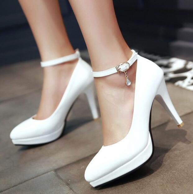 b9f216be3 Alto By16668 22 Tira Sapatos Plataforma Mulher Tamanho Bombas Sapato Grande  Mulheres Zapatos Black Feminino Salto Com De Senhoras 62 ...