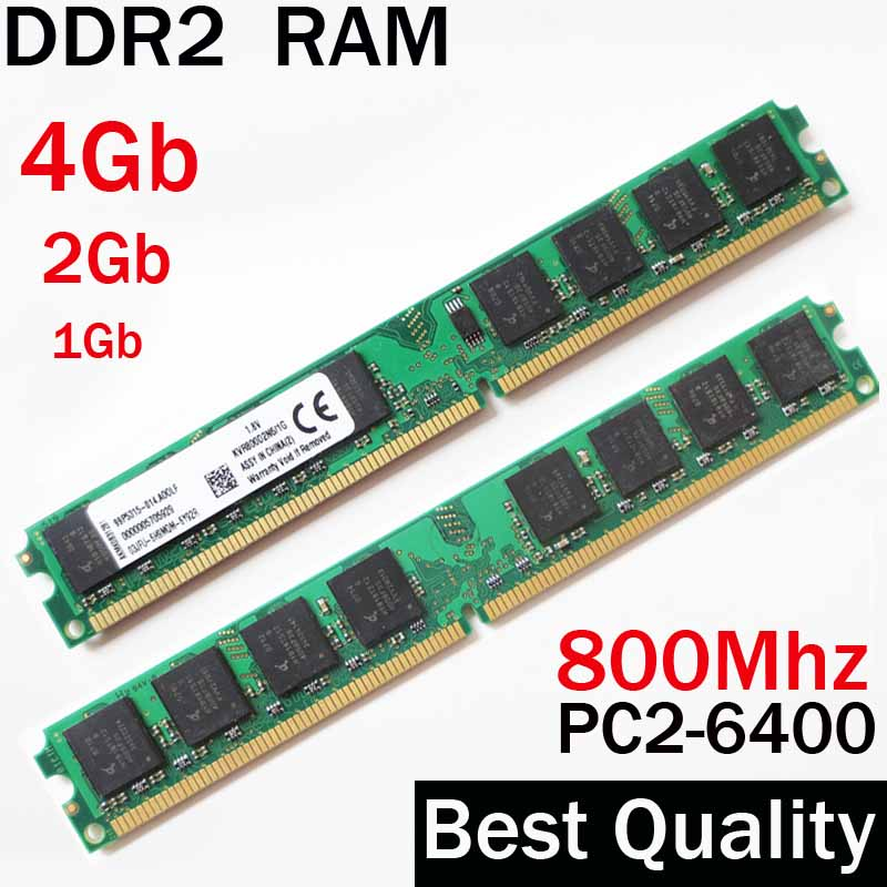 4Gb RAM DDR2 800 4Gb 2Gb 1Gb - DDR2 800Mhz 4Gb / For AMD for Intel memoria ram ddr2 4Gb single / ddr 2 4 gb memory RAM PC2 6400 free shipping 1pcs cm300dy 24h power module the original new offers welcome to order yf0617 relay