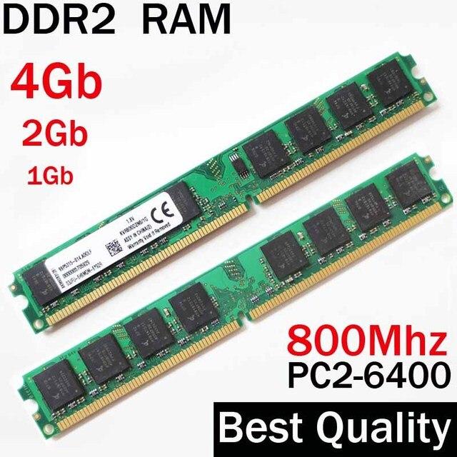 RAM DDR2 800 4 Гб 2 Гб 1 Гб - DDR2 800 МГц 2Гб / Для AMD для Intel Memoria оперативной памяти DDR2 4Гб одиночный / DDR 2 4Gb  RAM памяти PC2 6400