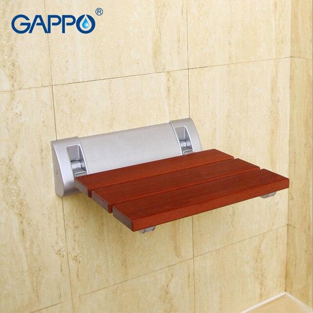 US $55.98 50% OFF|GAPPO Wand Dusche Sitze Dusche Massivstuhl Sitz dusche  klappsitz toilte Folding Warten Stühle entspannen Bank in GAPPO Wand Dusche  ...