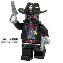 Movie Figure Single Sale Bad Cop Emmet Wyldstyle Sheriff Robo SWAT Vitruvius Building Blocks Model Bricks children Toy L1009