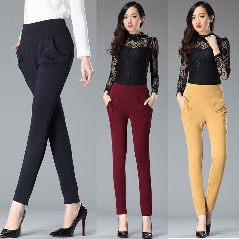 cargo classique pantalons pantalons féminine 2015 casual mode dames YwqaIxUZ1x