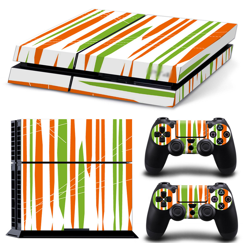Custom game design skin wrap protector for PS4 console and two controllers skin sticker decals covers #TN-PS4-0249