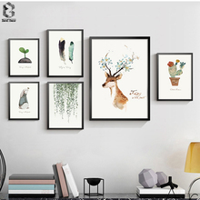 Nordic Minimalism Watercolor Art Print Poster, Wall Picture for Living Room Decoration, Home Decor Painting on Canvas