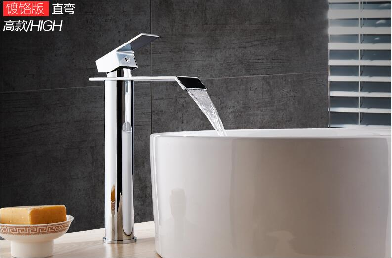 HTB1oJKnbL1TBuNjy0Fjq6yjyXXal Basin Faucet Gold and white Waterfall Faucet Brass Bathroom Faucet Bathroom Basin Faucet Mixer Tap Hot and Cold Sink faucet