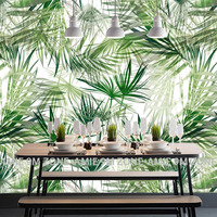 Tuya Art Tuya Green Leaf Art And Picture Mural Wallpapers Wall Covering Wall Art On The